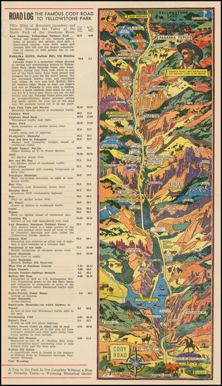 95-Wyoming and Pictorial Maps Map By