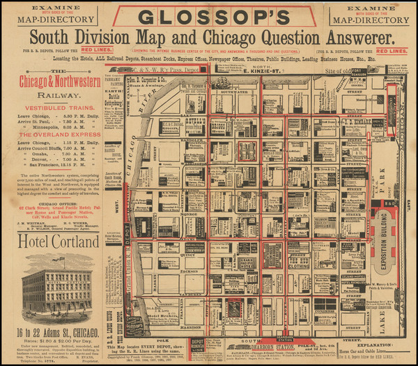 57-Chicago Map By Frank Glossop