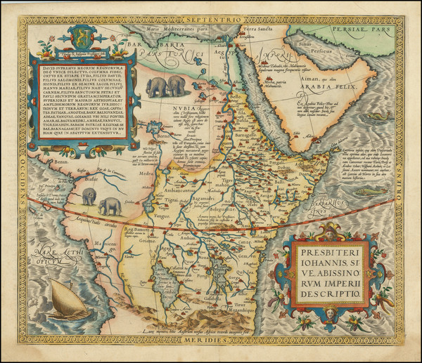 81-Africa, North Africa, East Africa and West Africa Map By Abraham Ortelius