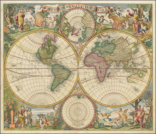 86-World Map By Gerard & Leonard Valk