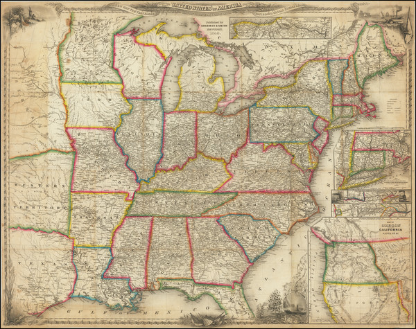 74-United States and Texas Map By Sherman & Smith