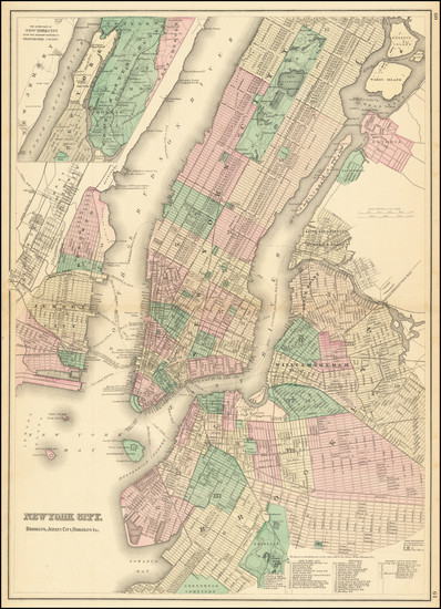 62-New York City Map By OW Gray