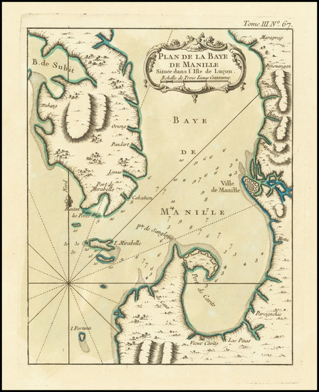 17-Philippines Map By Jacques Nicolas Bellin