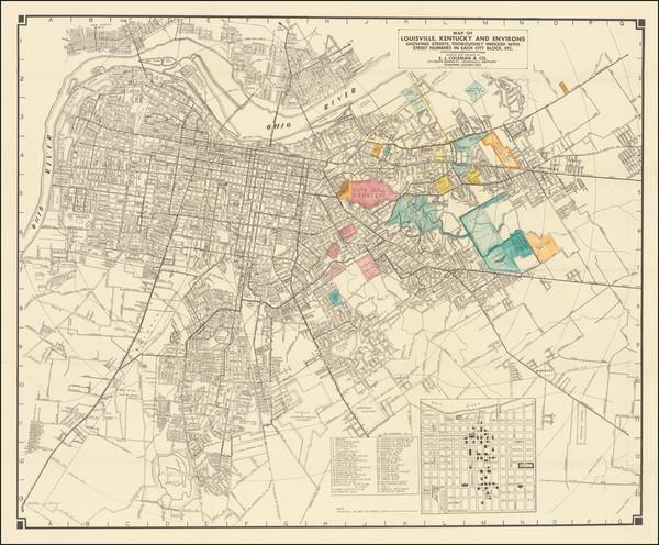 60-Kentucky Map By E. J. Coleman & Co.