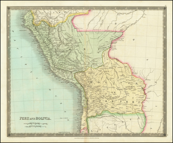 17-Paraguay & Bolivia and Peru & Ecuador Map By Henry Teesdale