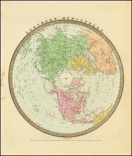 38-Northern Hemisphere and Polar Maps Map By David Hugh Burr