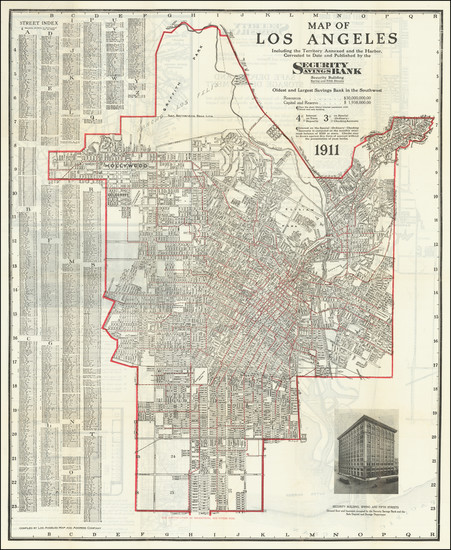 19-Los Angeles Map By Los Angeles Map & Address Co.