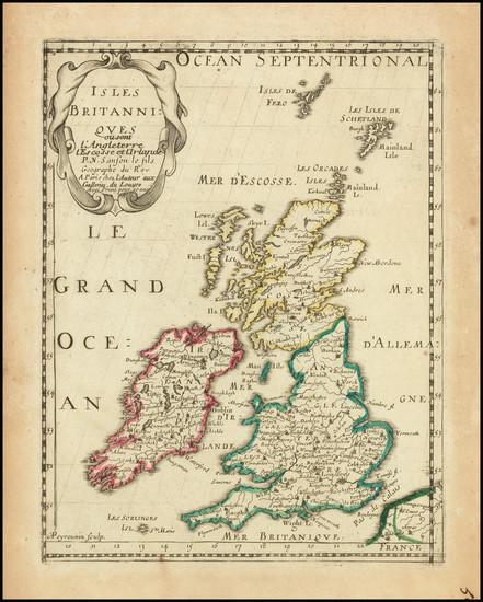 45-British Isles Map By Nicolas Sanson