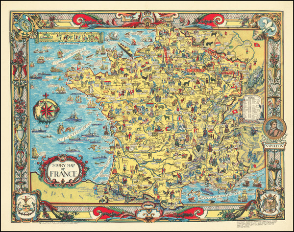 14-France and Pictorial Maps Map By Colortext Publications Inc.