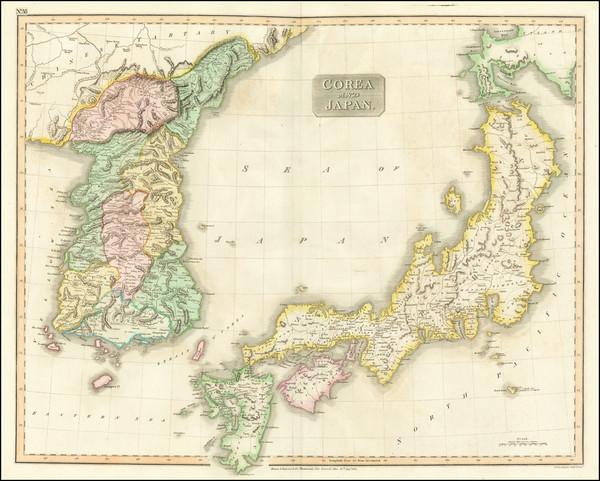 79-Japan and Korea Map By John Thomson