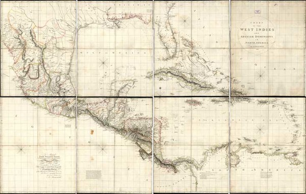 15-Southeast, Southwest, Mexico and Caribbean Map By Aaron Arrowsmith