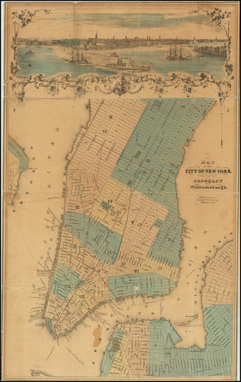 71-New York City Map By Charles Magnus