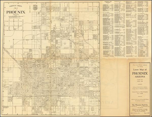 78-Arizona Map By Thomas Brothers