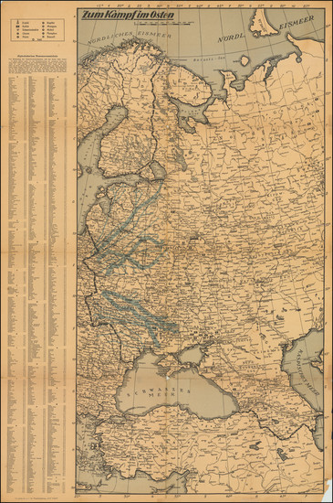 81-Russia and World War II Map By Die Post
