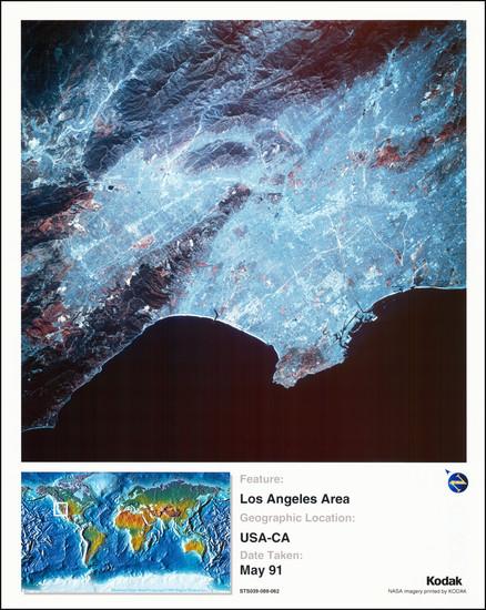 21-Los Angeles Map By NASA / Kodak