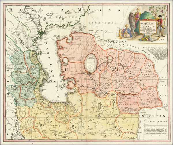 76-Russia, Ukraine and Central Asia & Caucasus Map By A Maas