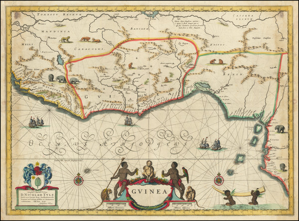 64-West Africa Map By Willem Janszoon Blaeu