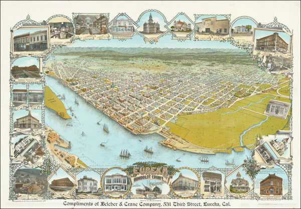 21-Other California Cities Map By A. C. Noe  &  G. R. Georgeson