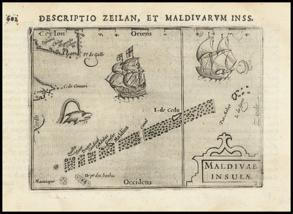 8-India and Other Islands Map By Petrus Bertius