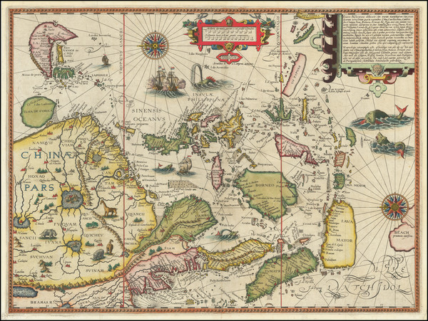 0-China, Japan, Korea, Southeast Asia, Philippines, Indonesia and Malaysia Map By Jan Huygen Van