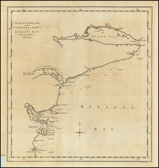 54-Polar Maps and Eastern Canada Map By Charles Swaine Drage