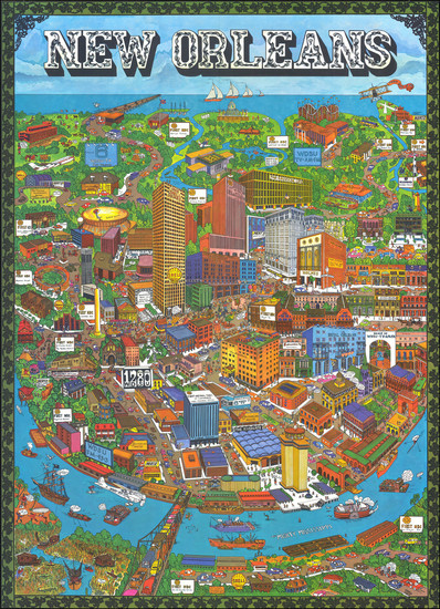 62-New Orleans Map By Trans Continental Cartographers