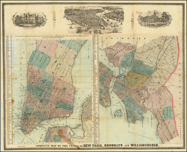 25-New York City Map By Charles Magnus
