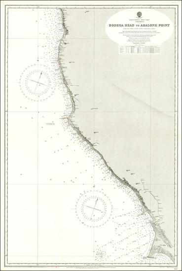 86-California Map By U.S. Coast Survey