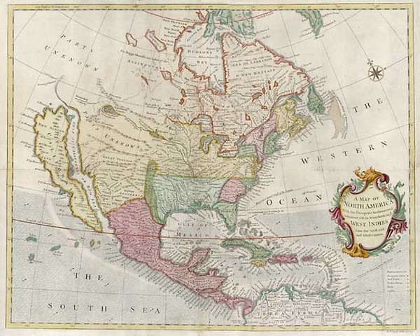 33-North America and California Map By Richard William Seale