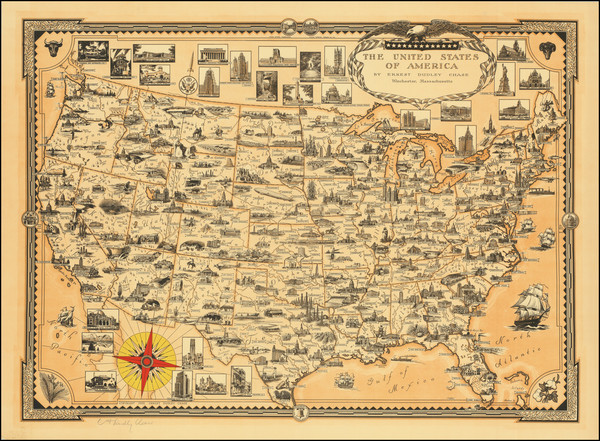 85-United States Map By Ernest Dudley Chase