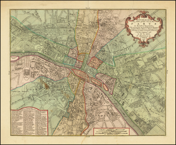 78-Paris Map By Isaak Tirion