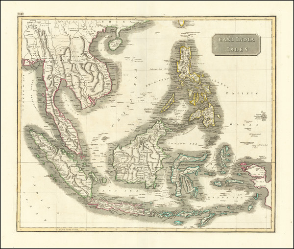 63-Southeast Asia, Philippines, Indonesia, Malaysia and Thailand, Cambodia, Vietnam Map By John Th