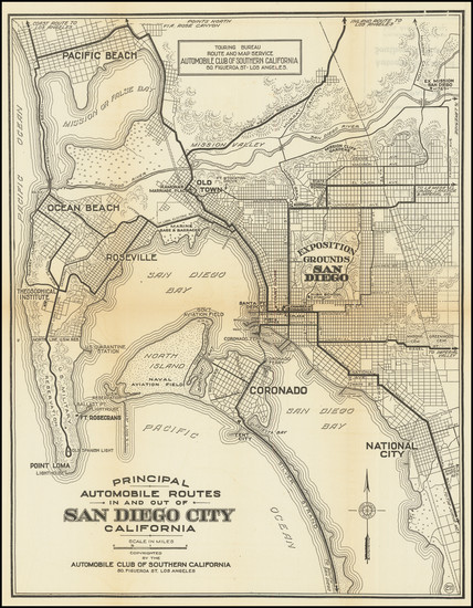 64-San Diego Map By Automobile Club of Southern California