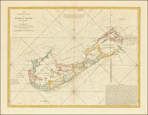 66-Bermuda Map By Robert Sayer