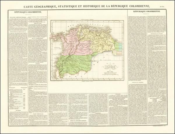50-Colombia Map By Jean Alexandre Buchon