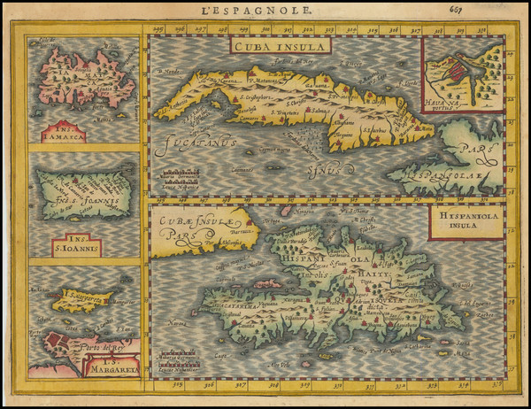 97-Cuba, Jamaica, Hispaniola, Puerto Rico and Other Islands Map By Jan Jansson