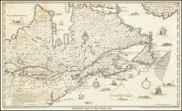72-United States, New England and Canada Map By Samuel de Champlain