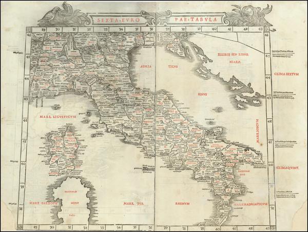 12-Balkans and Italy Map By Bernardus Sylvanus