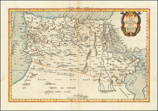 94-Egypt and North Africa Map By  Gerard Mercator