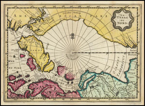 90-Polar Maps Map By Pieter van der Aa