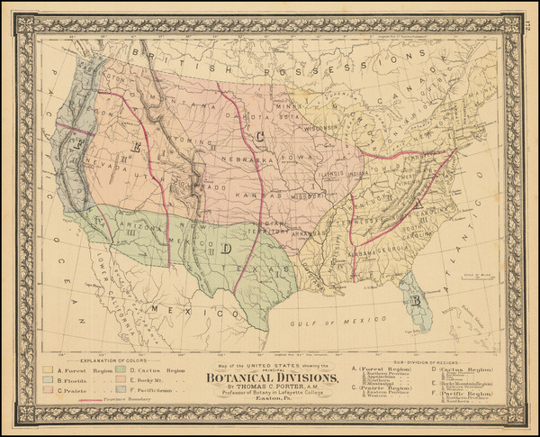 100-United States Map By O.W. Gray