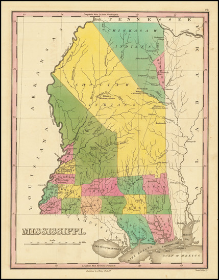 95-Mississippi Map By Anthony Finley