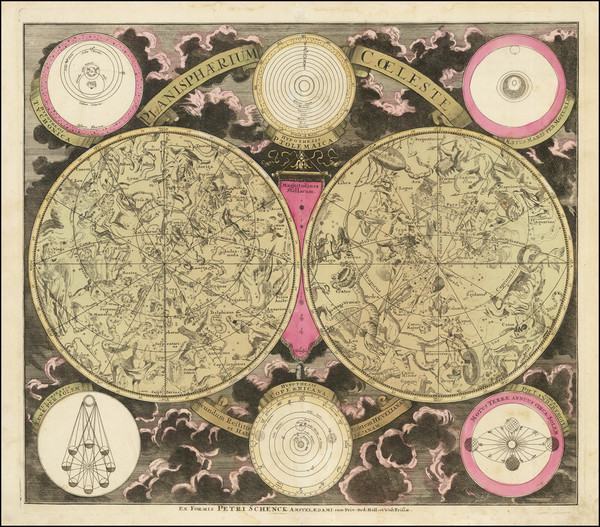 70-Celestial Maps Map By Peter Schenk