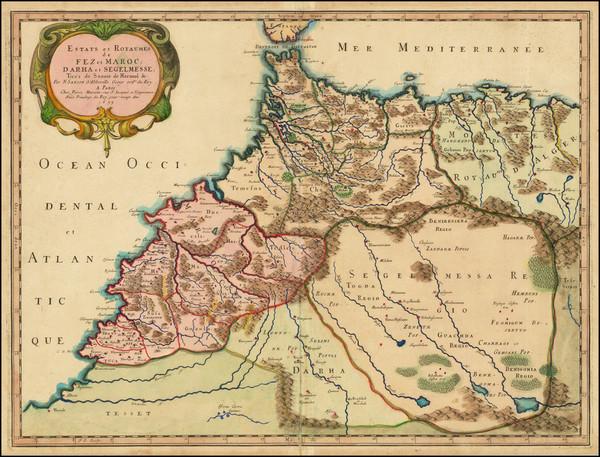 47-North Africa Map By Nicolas Sanson