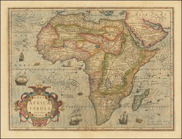 18-Africa Map By Jodocus Hondius