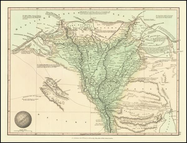 74-Egypt Map By G.F. Cruchley
