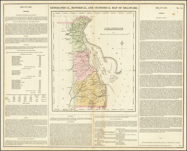 68-Delaware Map By Henry Charles Carey  &  Isaac Lea