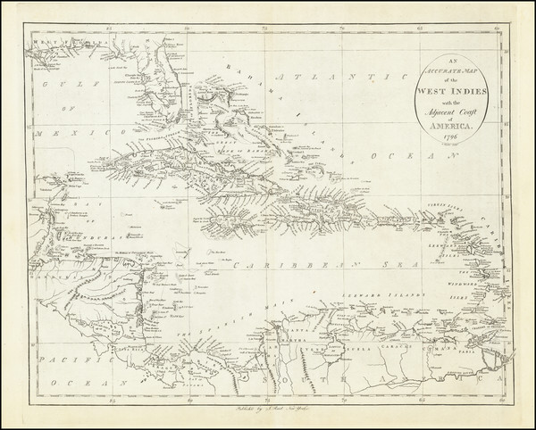 19-Florida, Caribbean and Central America Map By John Reid
