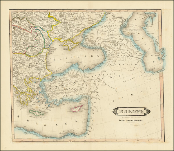 90-Central & Eastern Europe and Turkey Map By William Home Lizars