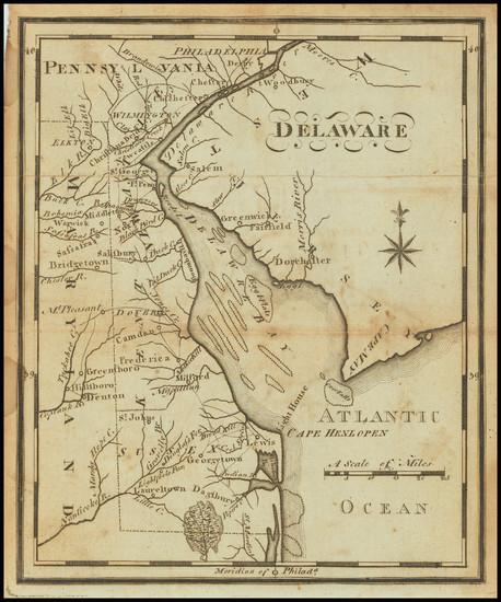 54-Delaware Map By Joseph Scott